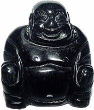 Obsidian Buddha aus echtem Edelstein Happy Buddha