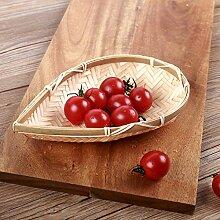 Obst bambuskorb ständer,Hochzeit obst korb schüssel stand kompott für hochzeitsfest gäste unterhaltungsveranstaltungen anzeigen-A L7.9*W5.5inch(20*14cm)