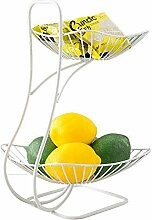 Obst Etagere 2 Stöckig, Früchtekorb Metall, 2