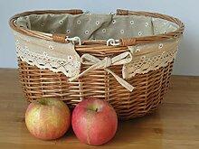 Obst, Weide, Gemüsekorb, Picknick -Korb, Große