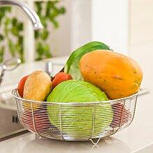 Obstkorb Obst Mode Edelstahl Abfluss Korb-B