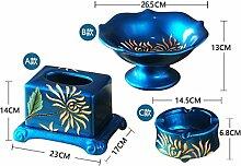 Obstschale Handwerk Home Decor Drei Sätze Keramik Tissue Box Obst Gericht Aschenbecher Kreative Dekoration , d