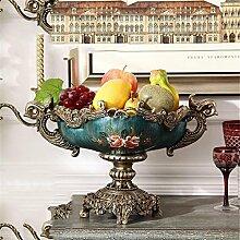 Obstschale Handwerk Wohnkultur europäischer Stil luxuriös Handgemalt Obstteller Kaffetisch Esstisch Dekoration Obstteller Retro Malerei Korb