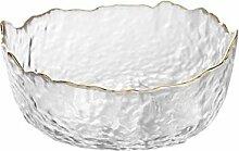 Obstschale unregelmäßige Glas Salatschüssel