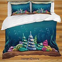 Ocean Decor Bettwäsche Bettbezug Set, Underwater