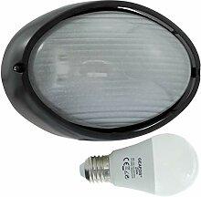 Oder-LED 10W - E27 - Aluminium -Alu wandstrahler