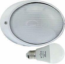 Oder -LED 10W - E27 - Aluminium -Alu wandstrahler