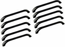 Oderola 10 Piece Zink-Legierung Möbelgriffe Möbelgriff Schwarz Schrankgriffe Türgriffe Cabinet Handles