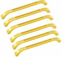 Oderola 6 Piece Zink-Legierung Möbelgriffe Möbelgriff Schrankgriffe Glänzend Türgriffe Cabinet Handles