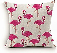 ODN Bettwäsche Flamingos Kissenbezug Home