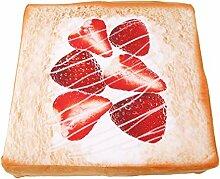 ODN Katze Kissen Toast Brot Katzen Matten Niedlich