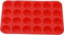 ODN Muffinblech Silikonform für 24 Mini Muffins,