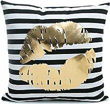 ODN Weiche Bronzing Kissenbezüge Kissen Auto Sofa