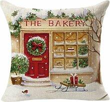 ODN Weihnachten Sofa Kissenbezug Kissenhülle