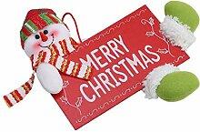 ODN Weihnachten Willkommen Board Schild mit Puppe
