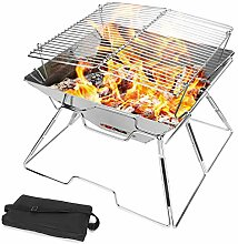 Odoland Faltbarer Lagerfeuer-Grill,