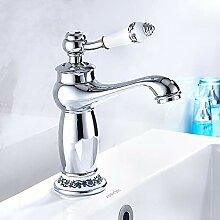 ODOMY Retro Badarmatur Waschbecken Wasserhahn Bad