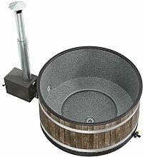 Odoro Essenzen Bade-Zuber Bade-Fass Holz mit Ofen