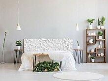 Oedim – Bett aus PVC, Bedruckt, weiß, 115 x 60
