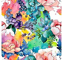 Oedim Fototapete Vinyl Wand Aquarell Multicolor