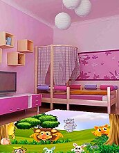 Oedim Kinderteppich, Tiermotiv, PVC, 95 x 120 cm,