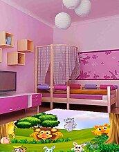 Oedim Kinderteppich, Tiermotiv, PVC, 95 x 95 cm,