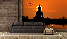 Oedim Tapete Buddha im Sonnenuntergang |