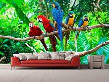 Oedim Vinyl Wand Dschungel und Papagei |