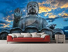 Oedim Wandtapete Buddha Puesta Sonne | Fototapete