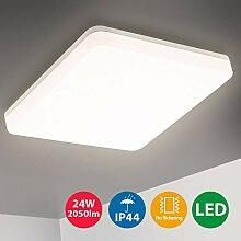 Oeegoo LED Deckenleuchte Badlampe, 24W 2050lm