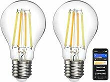Oeeone 2 Stk E27 Smart Filament LED Lampe ZigBee