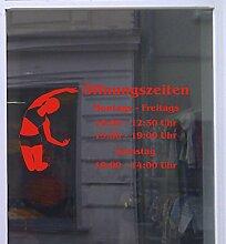Öffnungszeiten Fitness Schaufensterbeschriftung