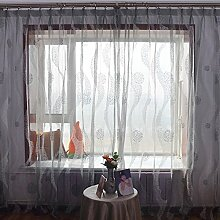 """Ökologische Baumwolle und Leinen Jacquard Landung Schlafzimmer transparente Fenster/Cutain , 56""""""""WX84""""""""L"""
