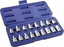 Öl Ablass-Schraubenschlüssel, im Kunststoffkoffer, 17 teilig