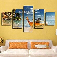 Öl Leinwand Malerei Bild Wandkunst 5 Panel Die