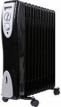 Öl Radiator | Radiator | Elektroheizung | Heizkörper | Heater | Öl-Radiator | Ölradiator | Heizgerät | Paneelheizkörper | Thermostat | Überhitzungsschutz (11 Rippen)