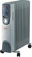 Öl Radiator | Radiator mit 24 Stunden Timer Zeitschaltuhr | 2.500 Watt | Elektroheizung | Heizkörper | Heater | Öl-Radiator | Ölradiator | Heizgerät | Paneelheizkörper | Thermostat | Überhitzungsschutz (11 Rippen)