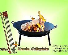 Oelbaum Formstabiles Grill Feuerschale aus