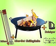 Oelbaum Kugelgrill Grill Feuerschale aus Gusseisen