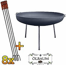ÖLBAUM Set XXL Feuerschale ca. 60 cm inkl. 8