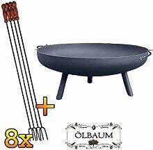 ÖLBAUM Stabile XXL Feuerschale ca. 100 cm für