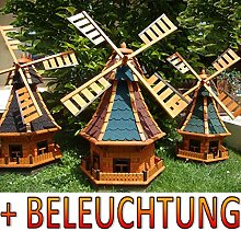 ÖLBAUM Windmühle,Windmühle für Garten,