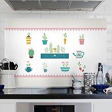 Ölbeständig Oberfläche Küche beschichtet mit hohem Fett anti-seize Aufkleber Glas Wandfliesen mit der wasserdichten Extraktoren öl-beständig Aufkleber 90 * 60 cm, neue Grüne