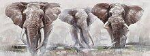 Ölbild Elephant 160x60 cm, braun Ölbilder Bilder