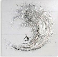 Ölbild Surfer   1000 x 1000 mm   Dekoration
