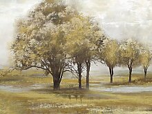 Ölbild Trees 120x90 cm, braun Ölbilder Bilder