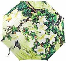 Ölgemälde 3 Falten Sonnenschirm Sonnenschutz Anti-UV Regenschirm Für Frauen,PhotoColor-Freesize