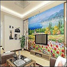Ölgemälde Blumen für Wände Wandbilder Tapete