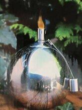 Öllampe-Gartenfackel-Feuerkugel aus Edelstahl