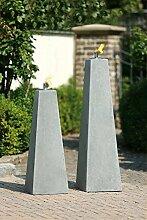 Öllampe Pyramide H 70cm Creastone Gartendeko